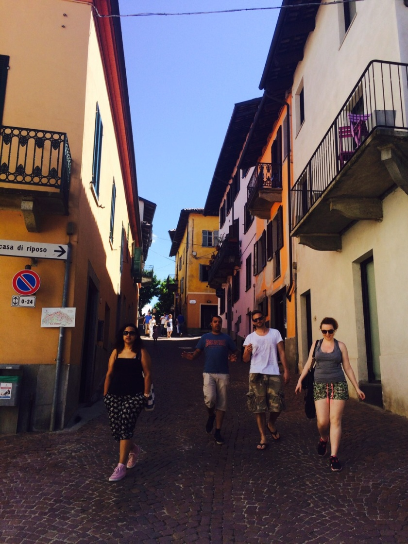 Walking the Streets of Northern Italy, makes us look a lot more classier than walking down Cowley Road